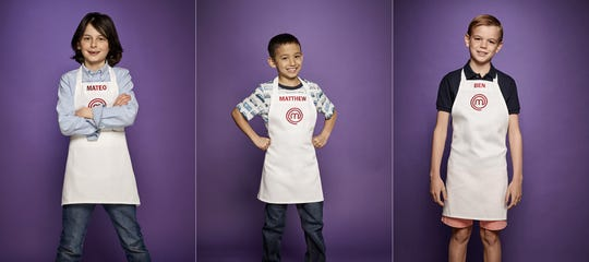Caption: Three New Jersey youths will compete in the latest season of FOX's MasterChef Junior. From left, Mateo, 8, of Demarest; Matthew, 8, of Livingston and Ben, 11, of Morristown.
