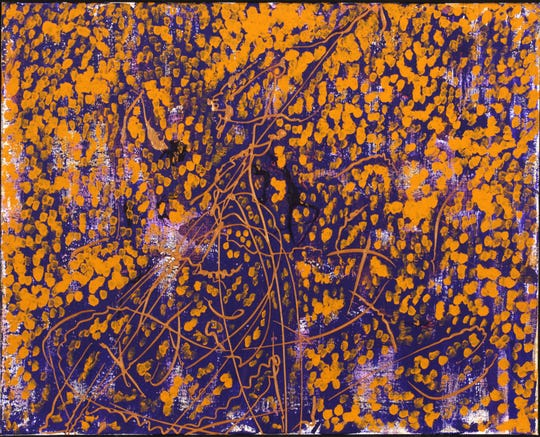 """""""Amber,"""" an acrylic painting by Chet Cheesman will be on display at Sotheby's in New York City."""
