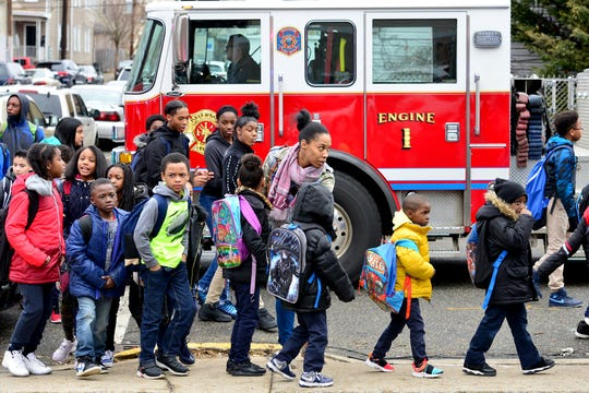 Old peppermint oil in the basement of Paterson's School 10 caused an evacuation and sent a teacher to the hospital in Paterson on Thursday February 7, 2019.
