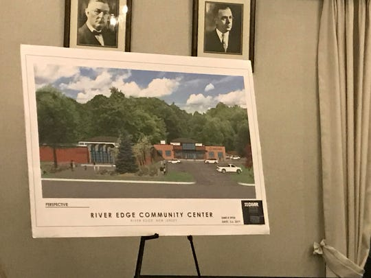 A rendering of the exterior of the proposed community center in River Edge displayed during the Feb. 6 Land Use Board meeting.