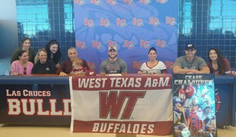 Las Cruces High running back Chase Chaloupek signed this week to play football at West Texas A&M.