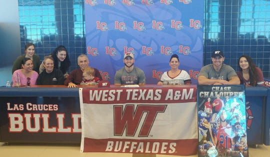 Las Cruces High running back Chase Chaloupek signed to play college football at West Texas A&M.