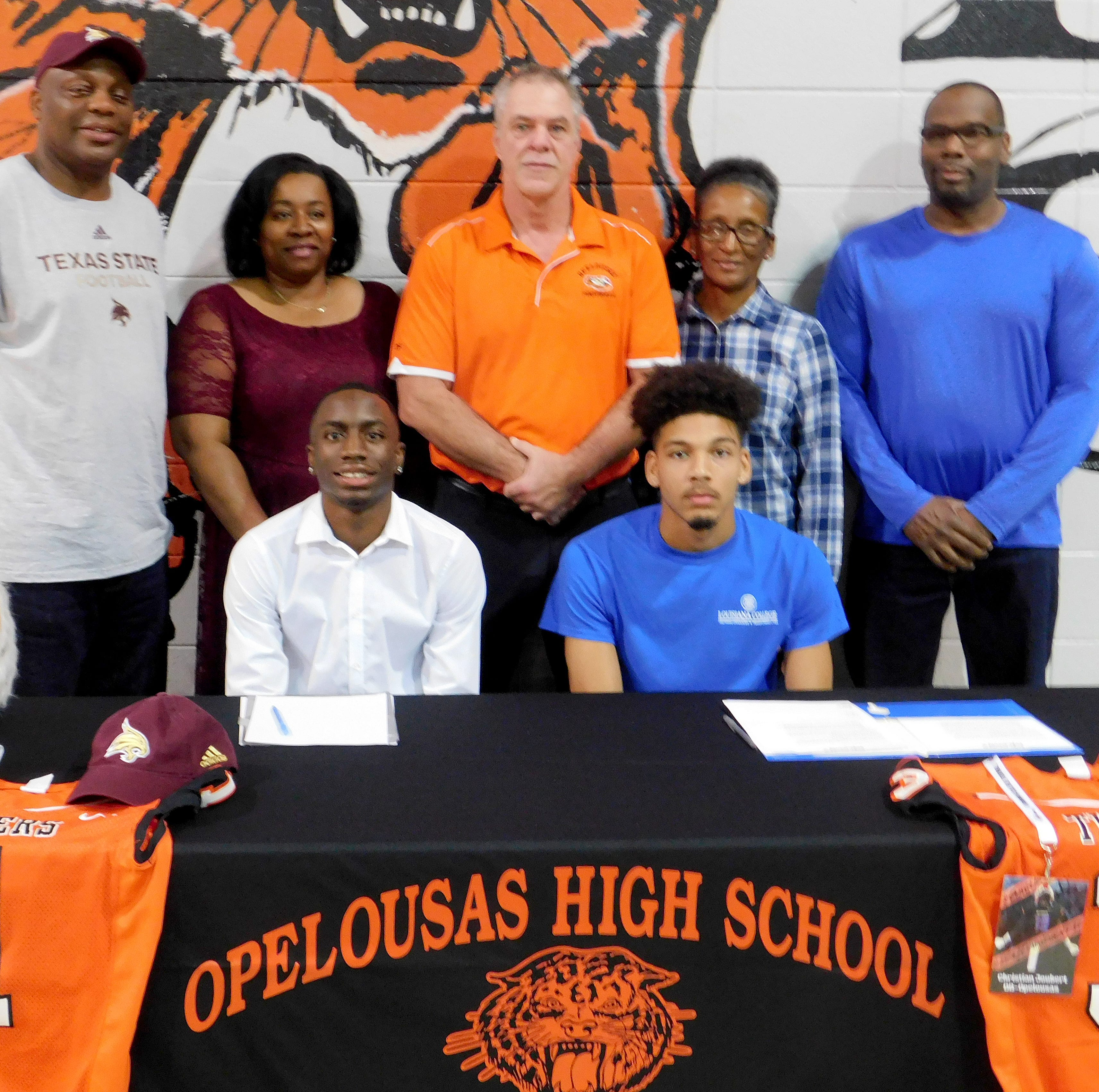 Opelousas High athletes sign to continue football careers