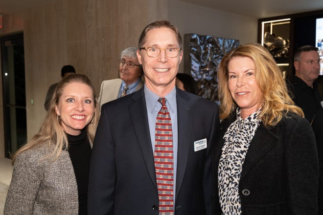 (left to right) Jennifer Heggie, Director of Development for Guide Dogs of the Desert, one of the BIGHORN Cares grant recipients, Ben Schirmer, newExecutive Director of Guide Dogs of the Desert, and Ann Thornton, a member of BIGHORN Golf Club and a Board Member of Guide Dogs of the Desert.
