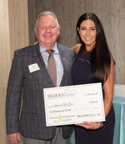 (left to right) Brian Daly, Regional Philanthropy Officer of American Red Cross, one of the BIGHORN Cares grant recipients with Kelly Levy, Charities & Marketing Director of BIGHORN.