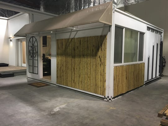An accessory dwelling unit inside the warehouse of Quadrow Modular Systems in Indio, February 6, 2019