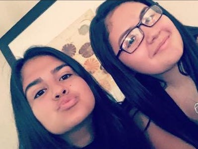 A photo of Yuliana Garcia, left, and her cousin Chavelita Morales, right. Garcia is one of four victims of a Sunday shooting in Palm Springs.