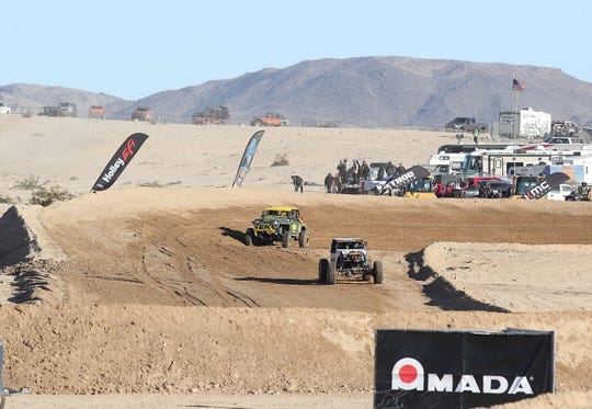 Competitors race in the King of the Hammers Every Man Challenge in Landers, February 6, 2019.