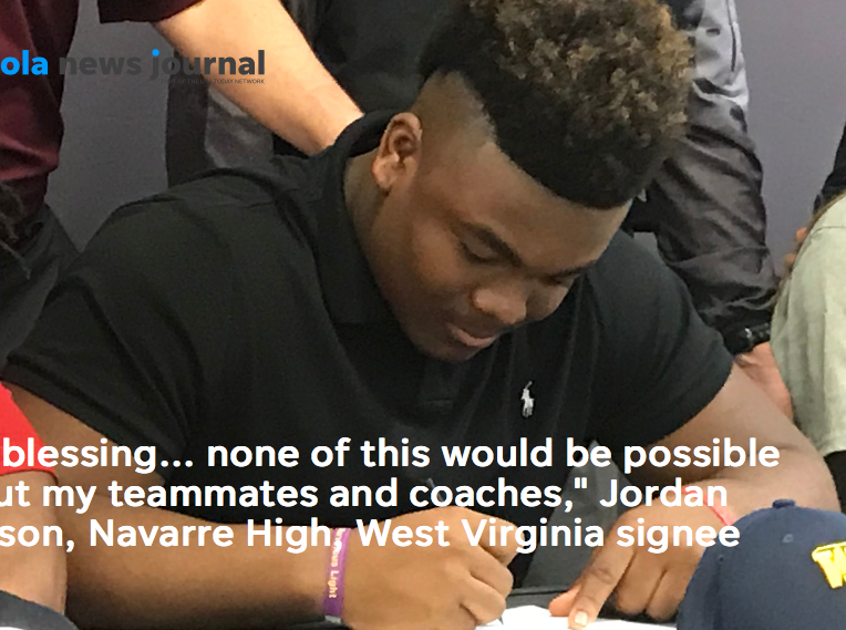 Jordan Jefferson made it official with West Virginia, the 20th ranked team in the Associated Press Top 25 poll.