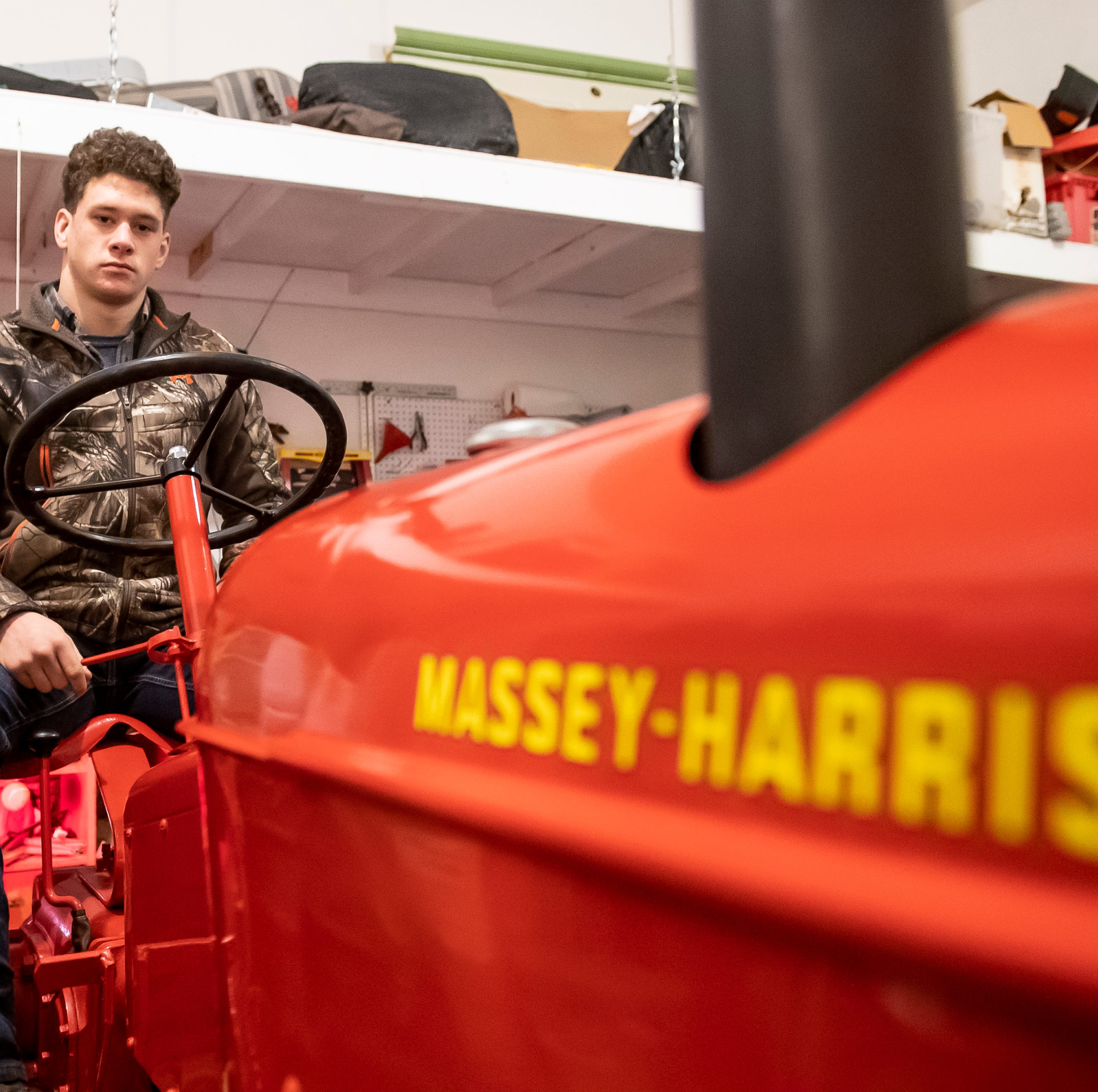 'Above and beyond': Littlestown wrestler toils toward future with 137-hour tractor restoration