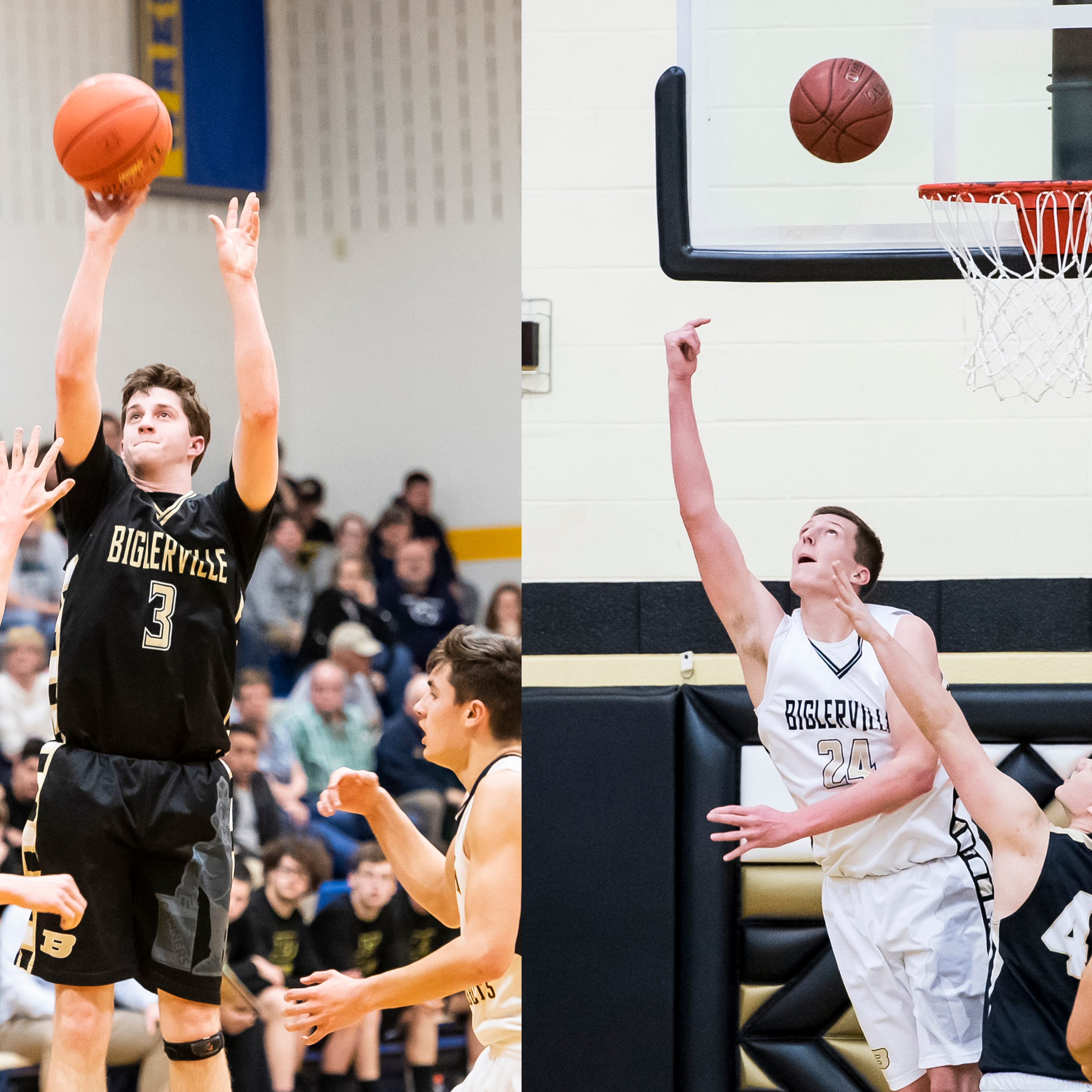 Playing together since third grade, Biglerville hoops duo notches scoring feat