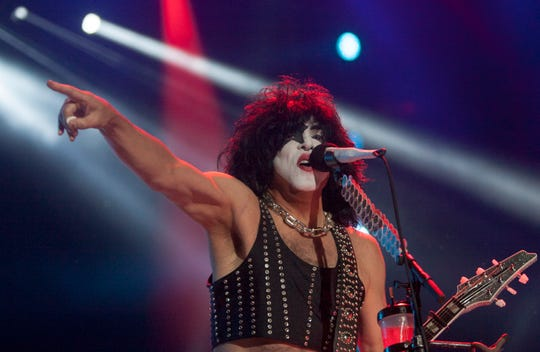 Paul Stanley, vocalist for rock band Kiss, performs during the Corona Northside 2016 festival in Monterrey, Mexico's Nuevo Leon, on Nov. 12, 2016.