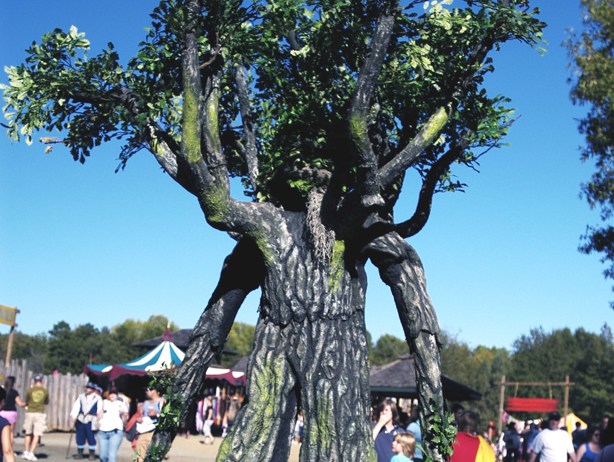 The Green Man entertains the crowds at the Arizona Renaissance Festival in 2011