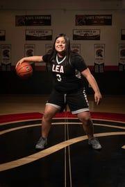 Mariah Estrada of Gilbert Leading Edge girls basketball team