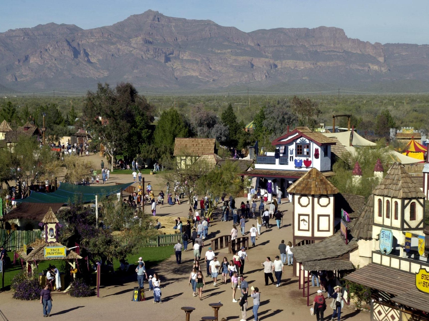 A birds-eye view of the Renaissance village in 2001.
