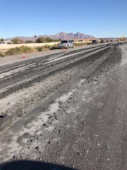 An asphalt spill on I-10 near Picacho Peak shut eastbound lanes Thursday afternoon.