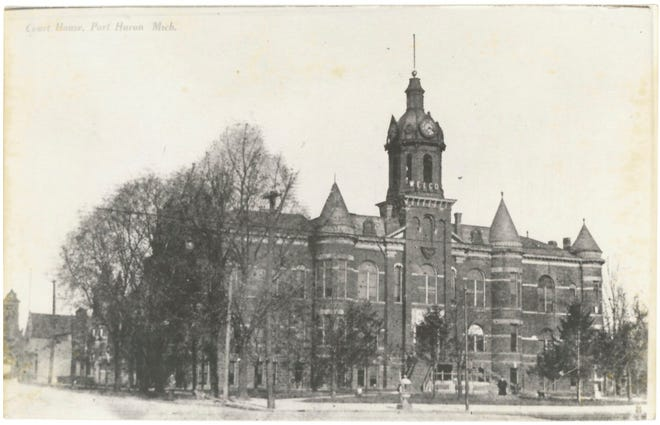 Construction began on City Hall in 1872, and it was opened in 1873. It cost $31,440 and stood where McMorran Arena stands now.
