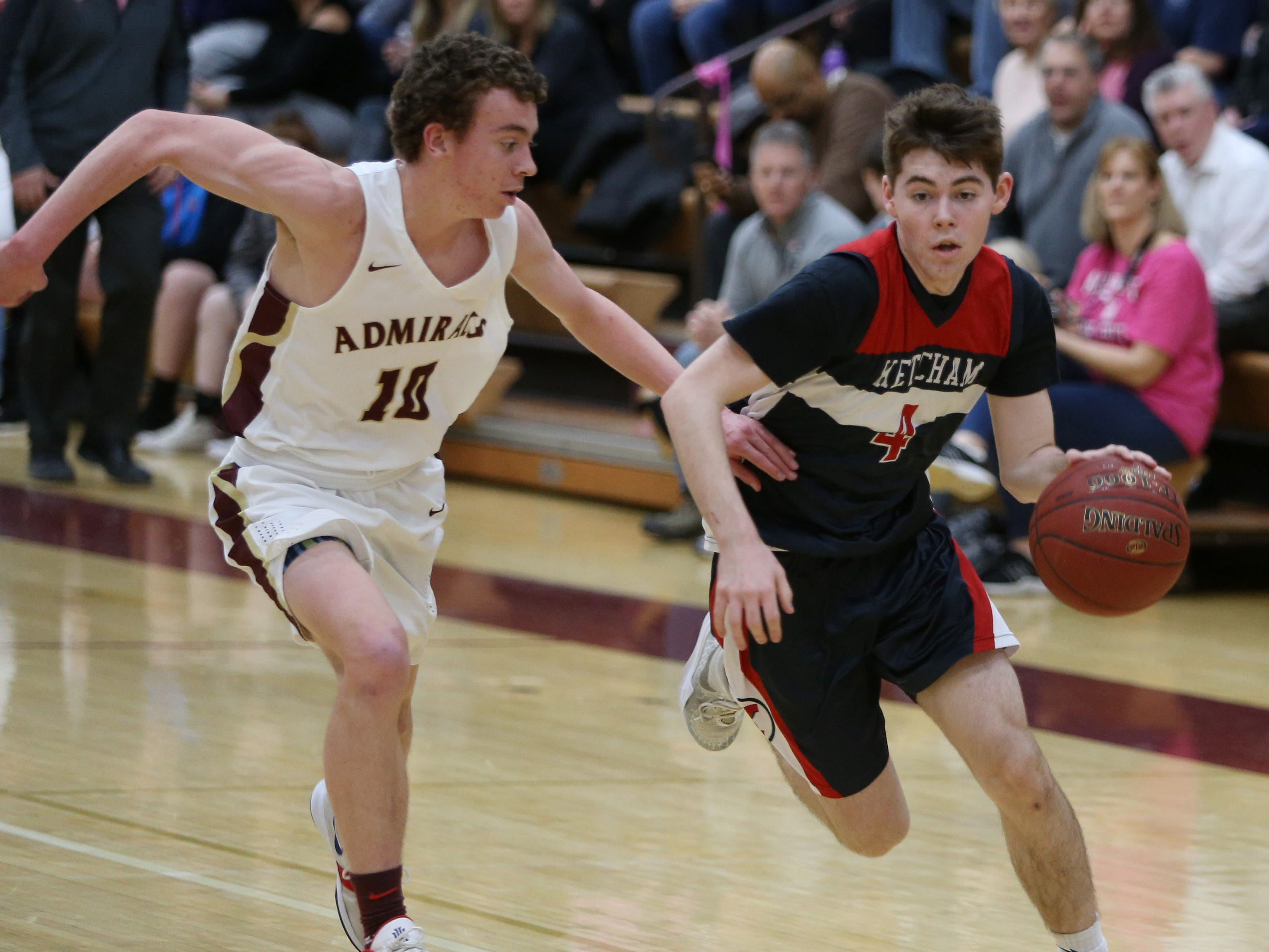 Action from Wednesday's game between Arlington and Roy C. Ketcham in Freedom Plains on February 6, 2019.