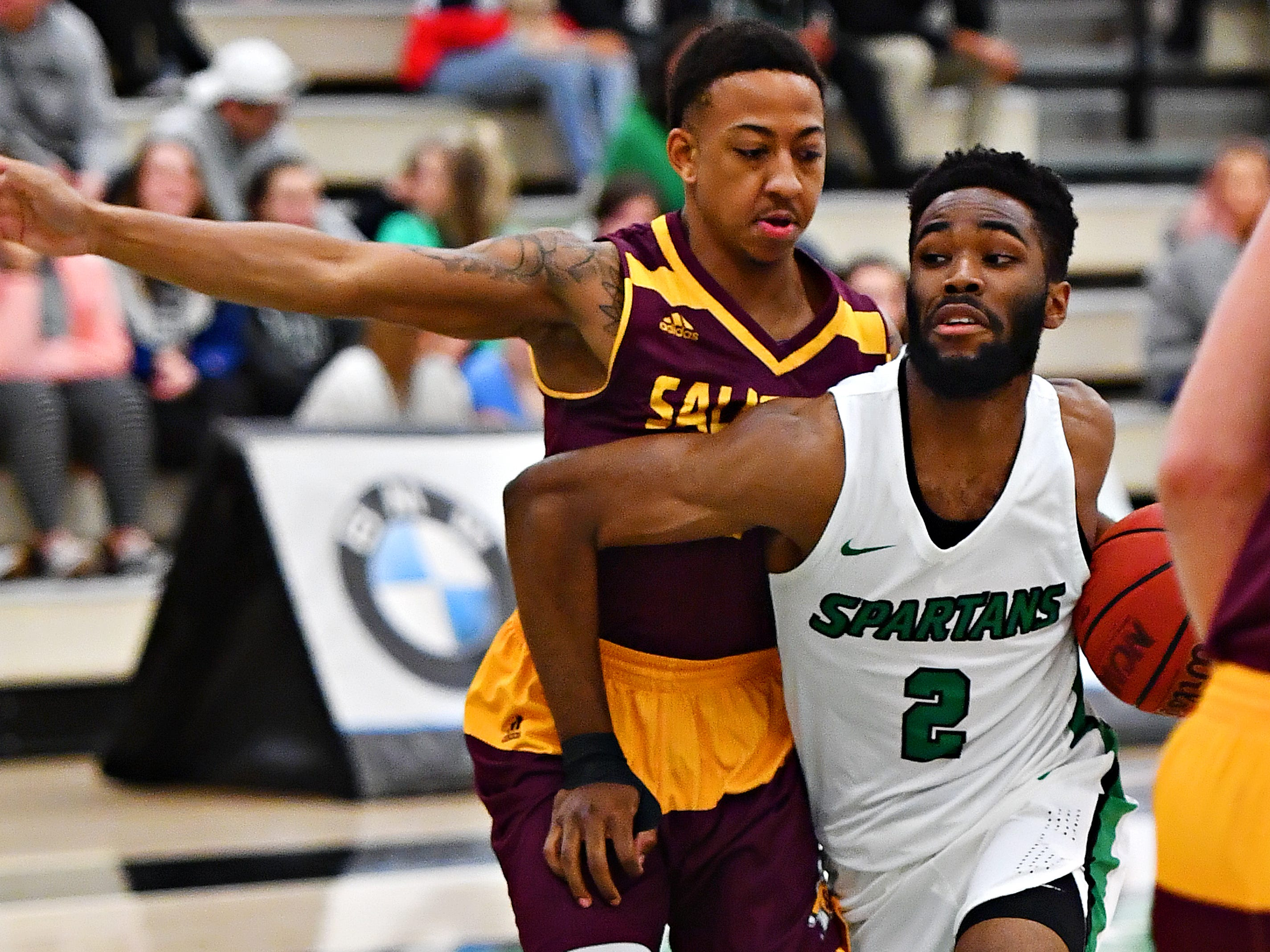 York College vs Salisbury during men's basketball action at Grumbacher Sport and Fitness Center at York College of Pennsylvania in Spring Garden Township, Wednesday, Feb. 6, 2019. Dawn J. Sagert photo
