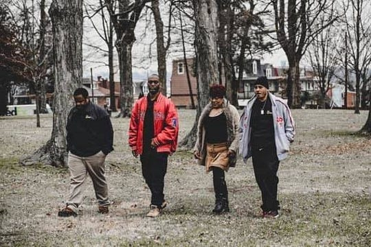 """Anu Banks, Fred Walker, Tonya Larry, and Raymond Bull (left to right) are members of """"The Movement""""  — a community driven group in York that's dedicated to bettering the city."""