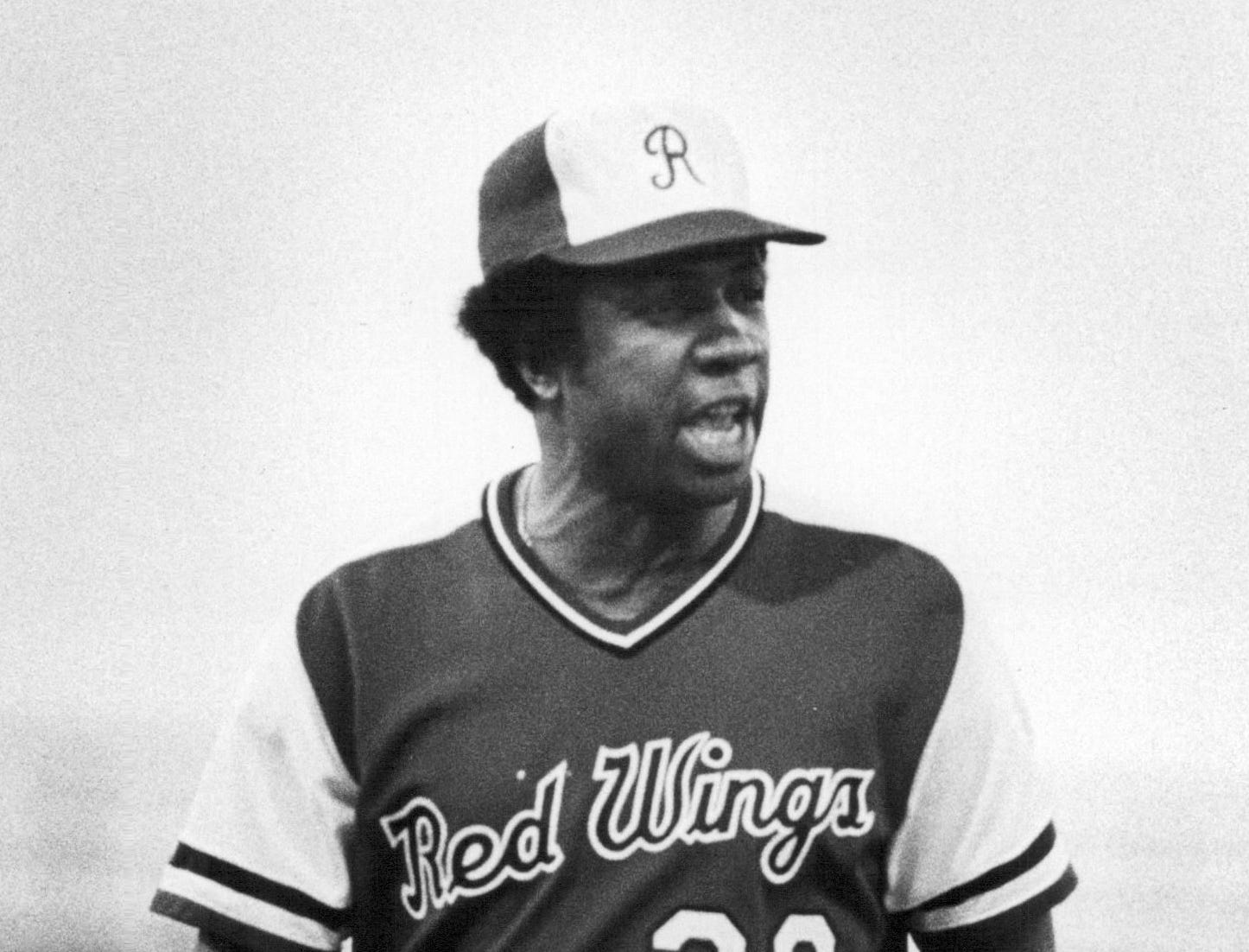 Frank Robinson chirps at an umpire while managing the Rochester Red Wings in 1978. Robinson, who had a 58-64 record with Rochester, died on Thursday, Feb. 7 at age 83