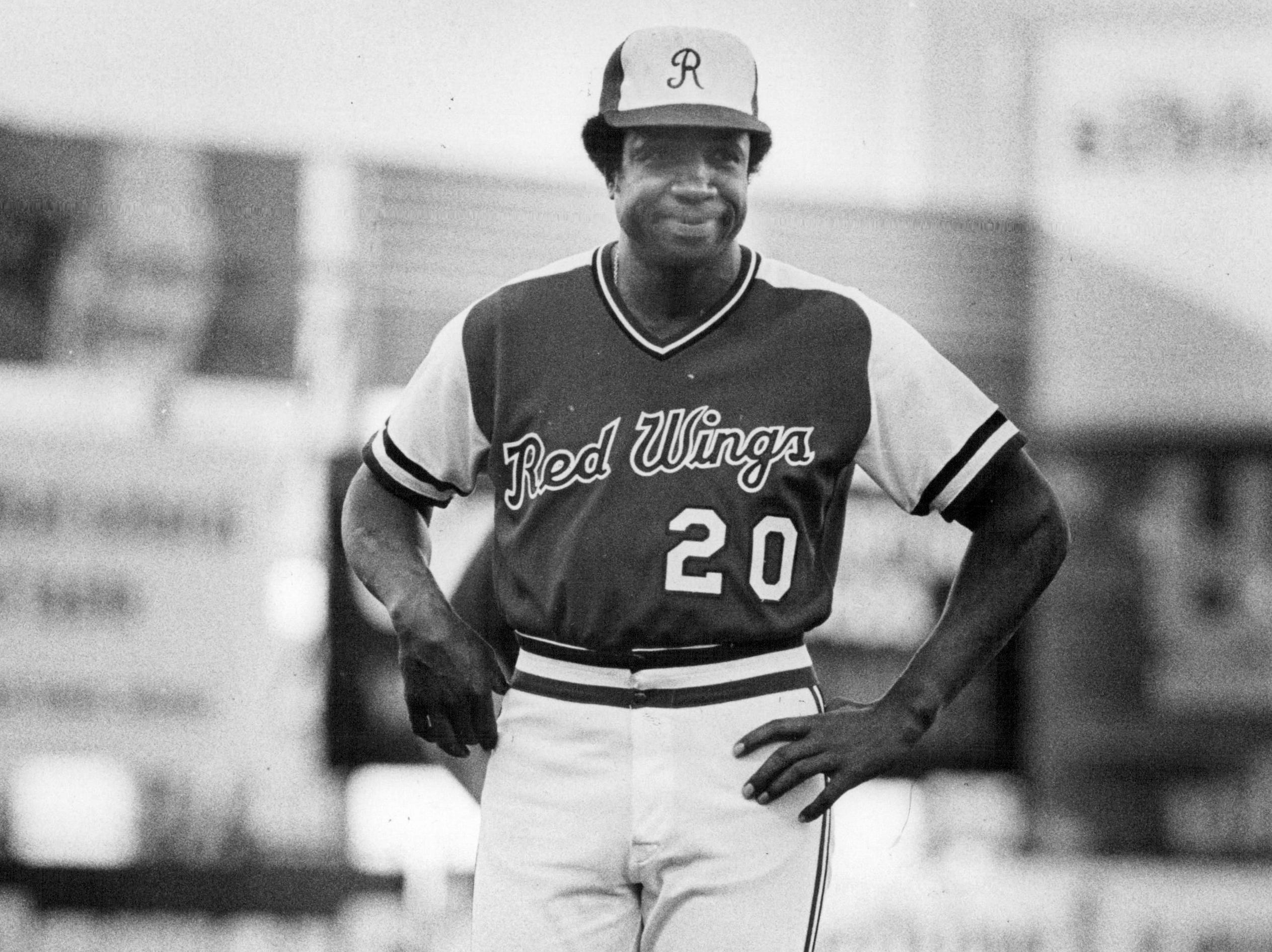 Frank Robinson managed the Rochester Red Wings for 112 games in 1978. The Baseball Hall of Famer died on Feb. 7, 2019 at the age of 83.