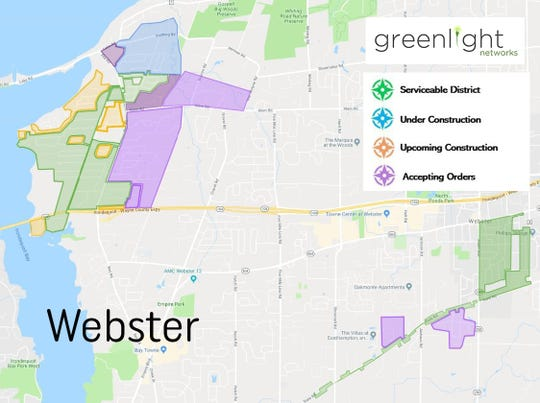 Updated maps show where Greenlight Networks is available and/or under construction as of February 2019.