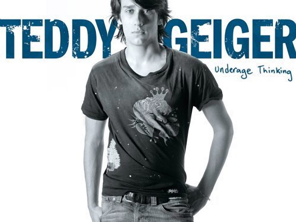 Underage Thinking, the album that made Teddy Geiger famous.
