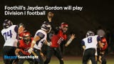 Jayden Gordon is the ninth Foothill football player to sign with a Division I program, Cougars coach Joey Brown said.