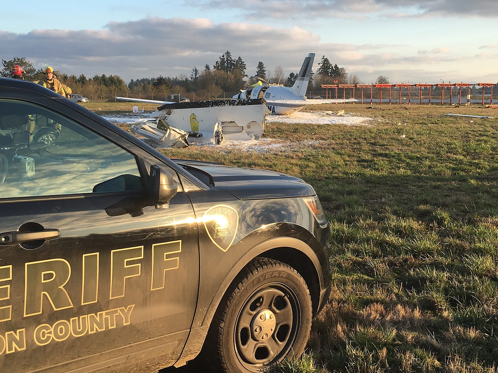 Deputies with the Marion County Sheriff's Office were called to the scene of a plane crash at the Aurora Airport.