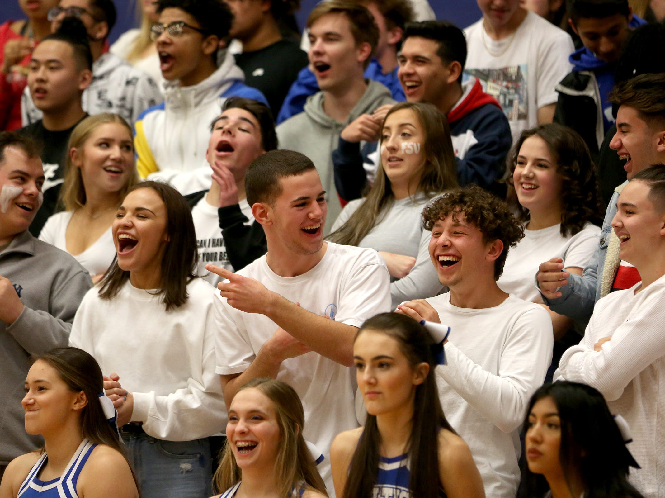 McNary High School students during the McNary boys basketball vs. West Salem game at McNary High School in Keizer on Wednesday, Feb. 6, 2019.