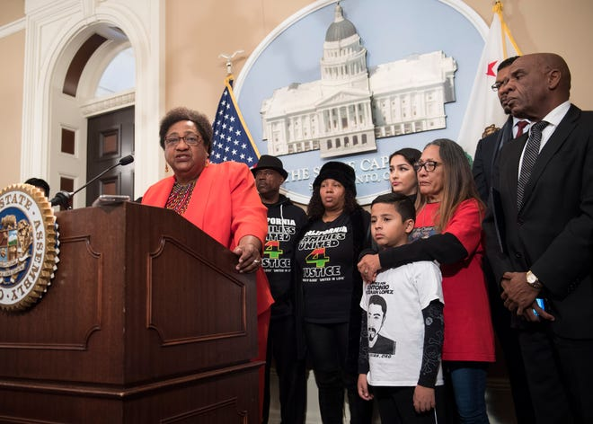 Assembleywoman Shirley Weber introduced bill 392 Wednesday in Sacramento.