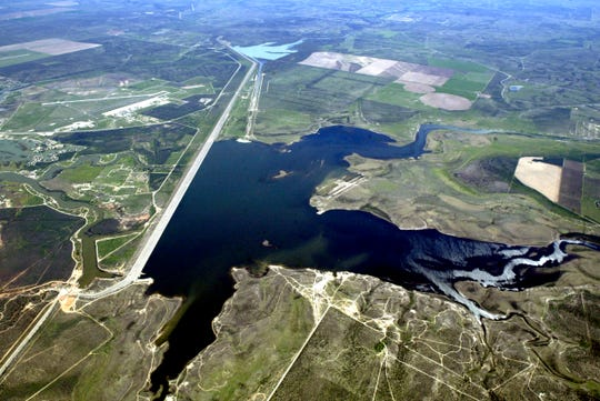 Twin Buttes Reservoir in San Angelo as seen from the air in this undated Standard-Times file photo.
