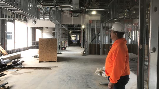 Construction of the new administrative and academic building at Eastern Shore Community in Melfa, Virginia  is making good progress. A tour led by VCCS inspector Joe Habel on Wednesday, Feb. 6, 2019 showed off some of the building's features.