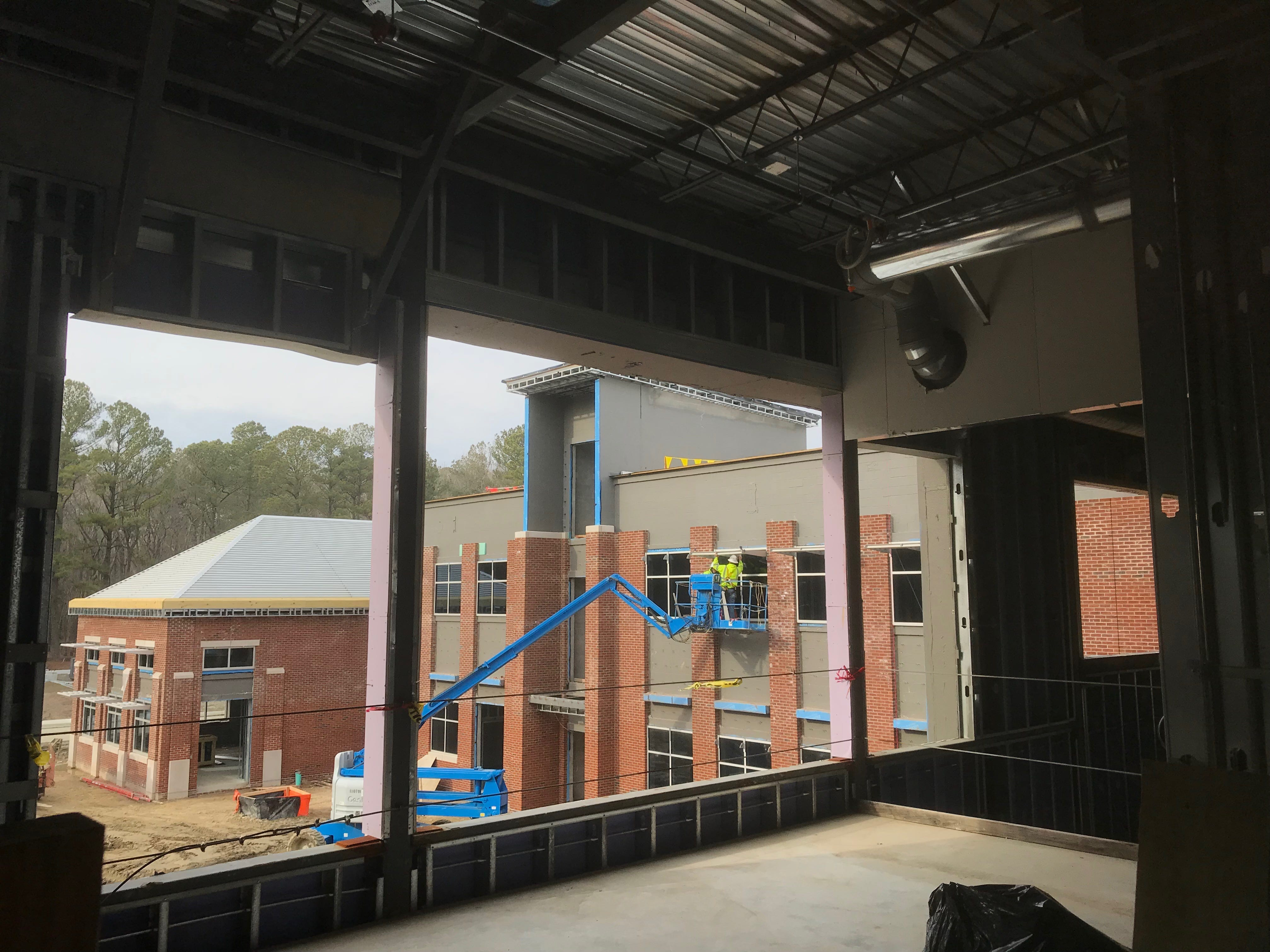 Construction of the new administrative and academic building at Eastern Shore Community in Melfa, Virginia is making good progress. A tour on Wednesday, Feb. 6, 2019 showed off some of the building's features.