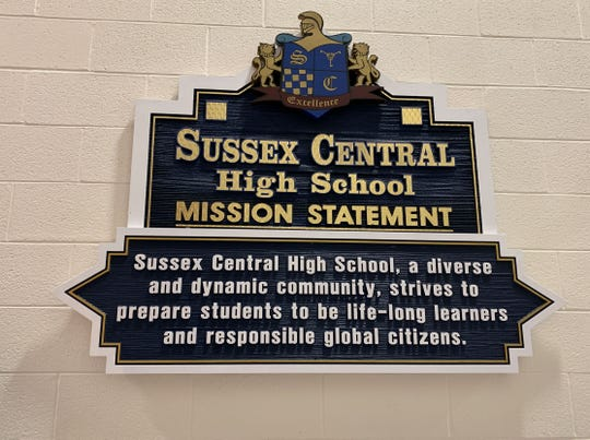 Sussex Central's mission statement placed inside the school.