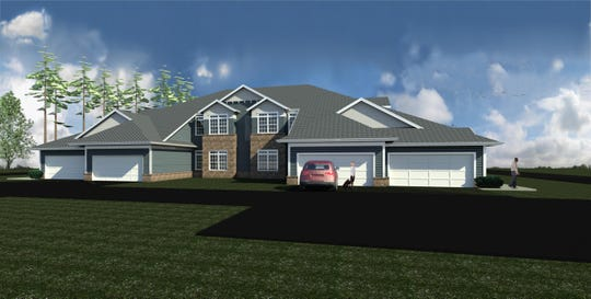 A digital rendering of the new Meadowlark Estates in the town of Sheboygan.