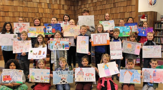 ELGS students participate in fire safety poster contest.