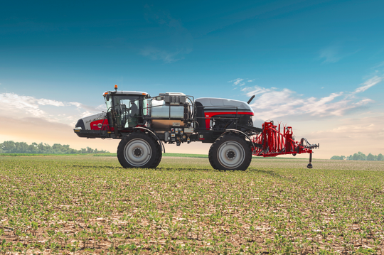 A stock photo of a Case IH 4440 Predator Sprayer