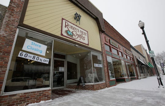 The storefront of Robin's Nest Gifts, 1129 Main St., as seen on Thursday, Feb. 7, 2019, in Stevens Point, Wisconsin. The gift and home decor shop is closing in mid-February and will be replaced by Hometown Pharmacy in the spring.