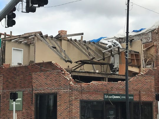 Four months after Hurricane Michael destroyed the roof and top floor of the Edward Jones Investments Building, no repairs have been made.