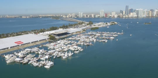 The annual Miami International Boat Show will open Thursday along Virginia Key across Biscayne Bay from downtown Miami.