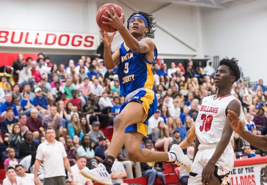 South Fork plays against Martin County during the high school boys basketball game Wednesday, Feb. 6, 2019, at South Fork High School in Tropical Farms.