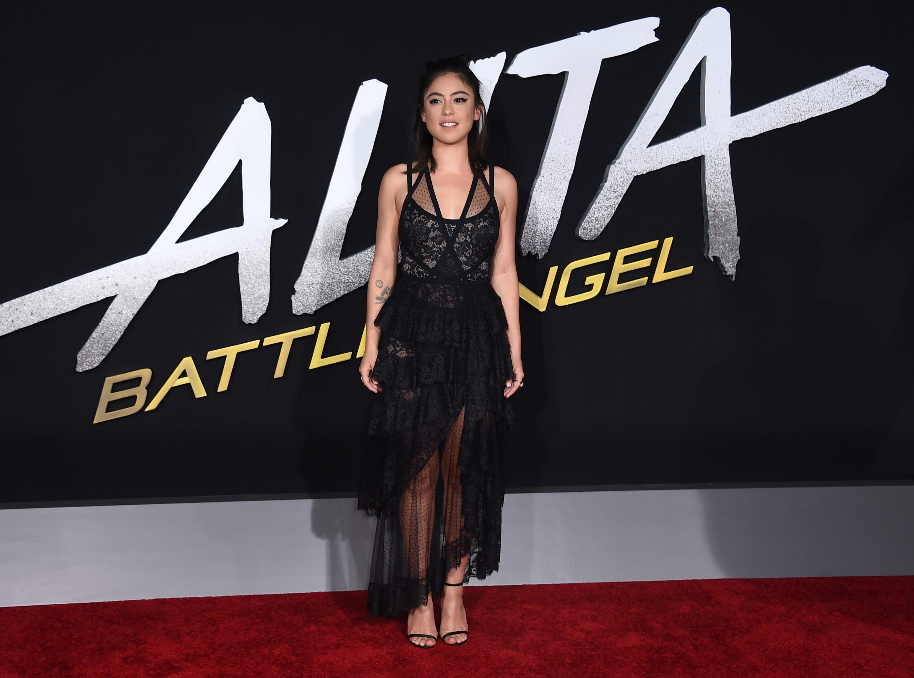 """Cast member Rosa Salazar arrives at the Los Angeles premiere of """"Alita: Battle Angel"""" on Tuesday, Feb. 5, 2019."""