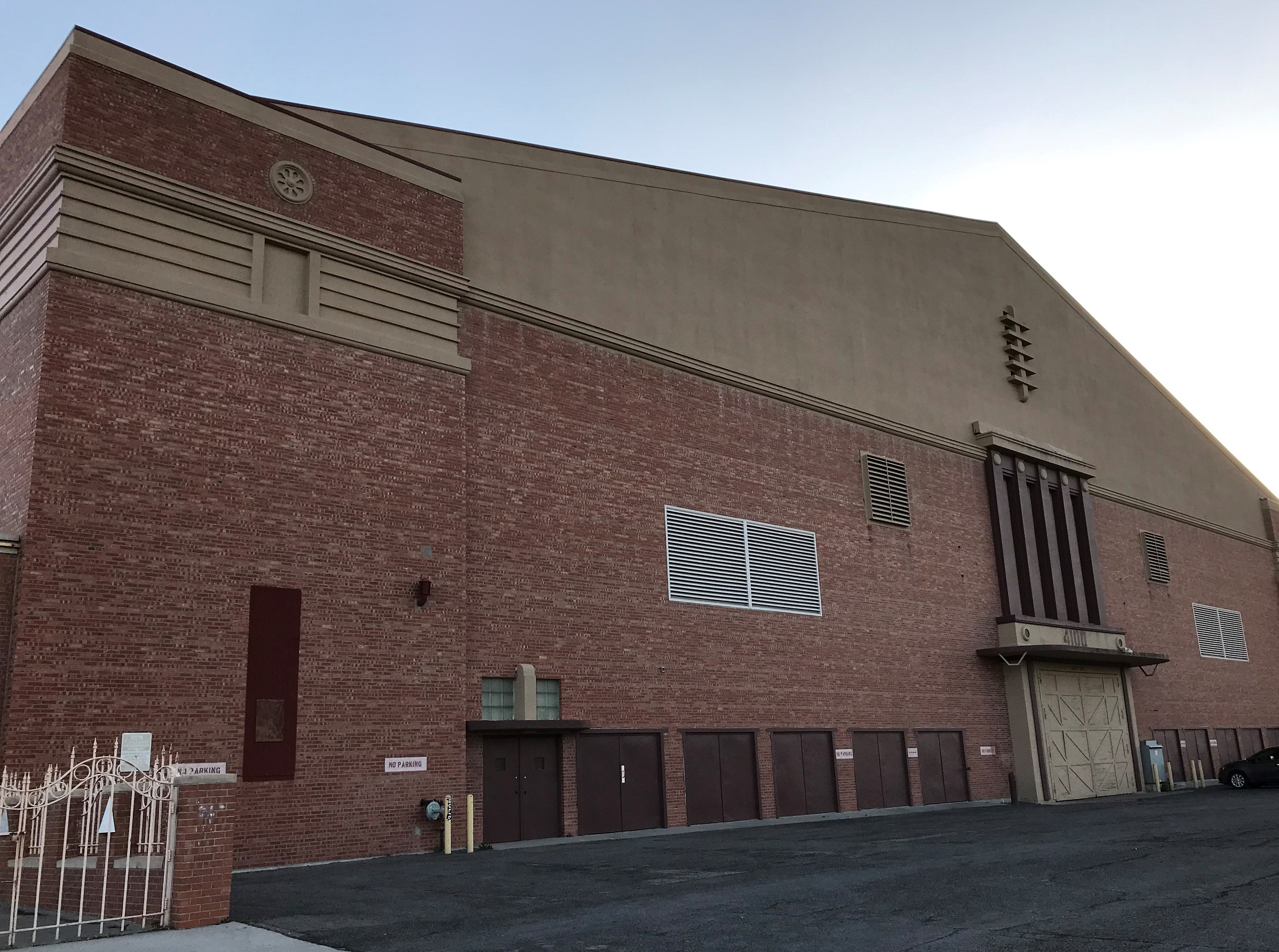 The west side of the El Paso County Coliseum is shown.