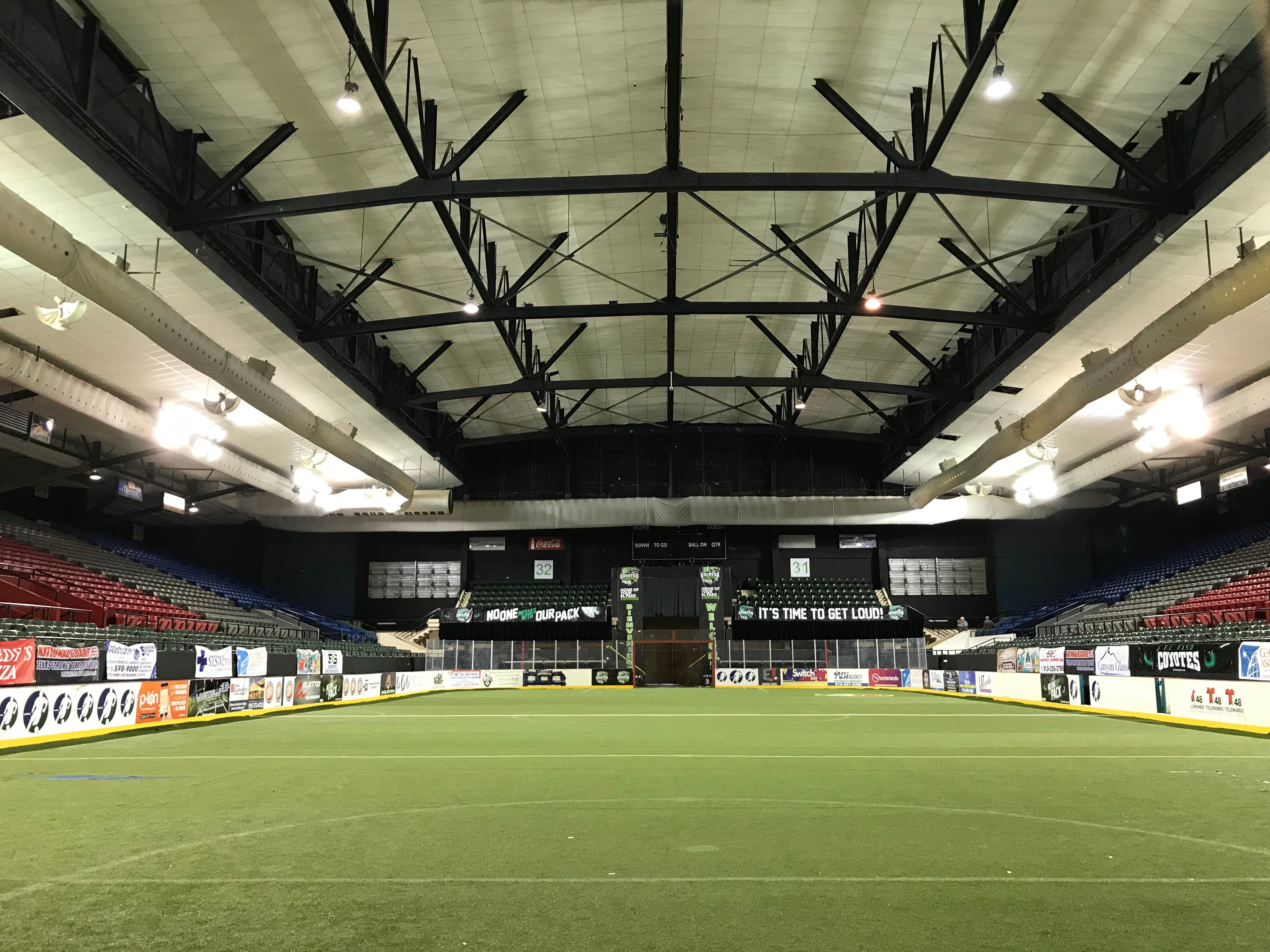 The El Paso County Coliseum makes an inviting indoor soccer venue and is home to the El Paso Coyotes.