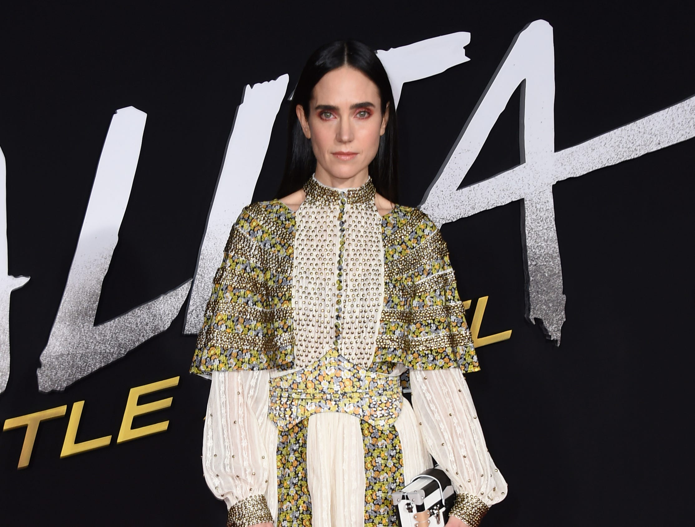 """Cast member Jennifer Connelly arrives at the Los Angeles premiere of """"Alita: Battle Angel"""" on Tuesday, Feb. 5, 2019."""