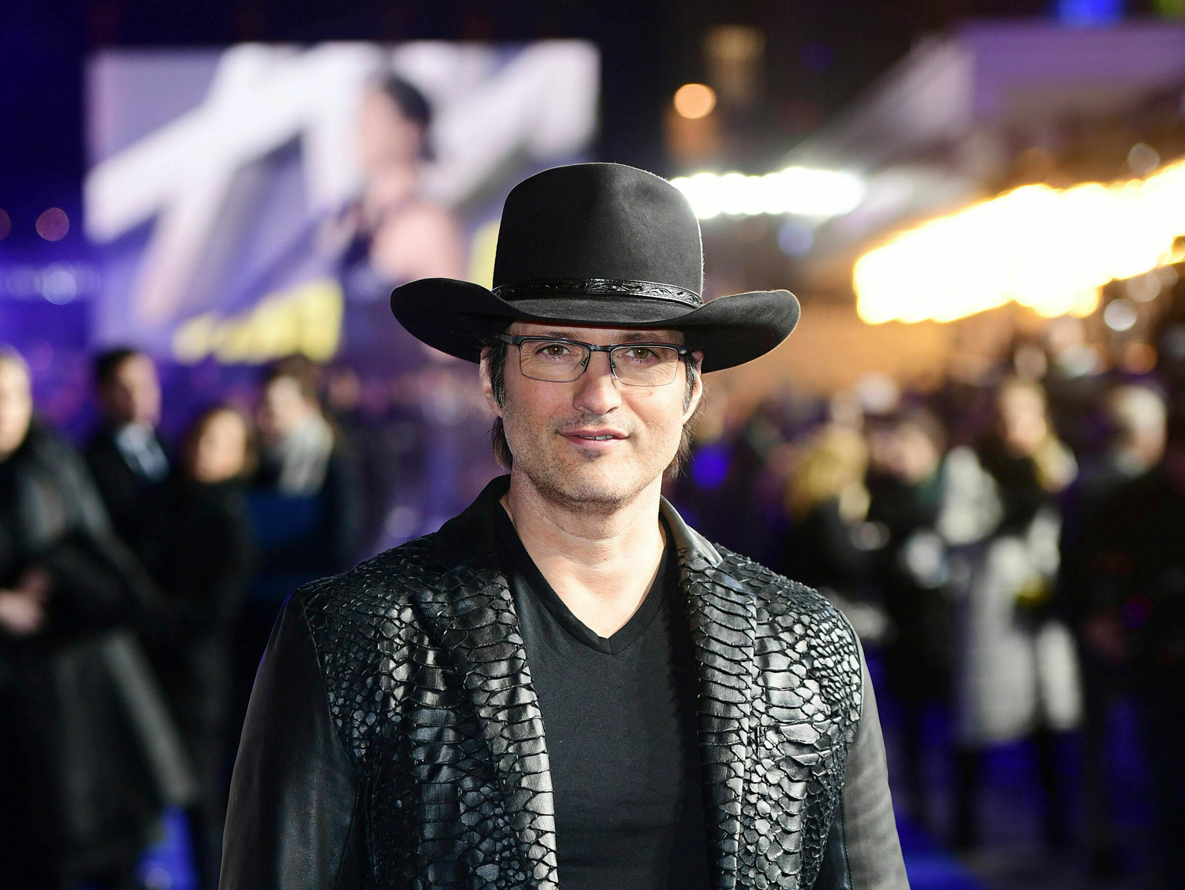 "Director Robert Rodriguez poses for the media at the world premiere of ""Alita: Battle Angel"" in central London, Thursday, Jan. 31, 2019."