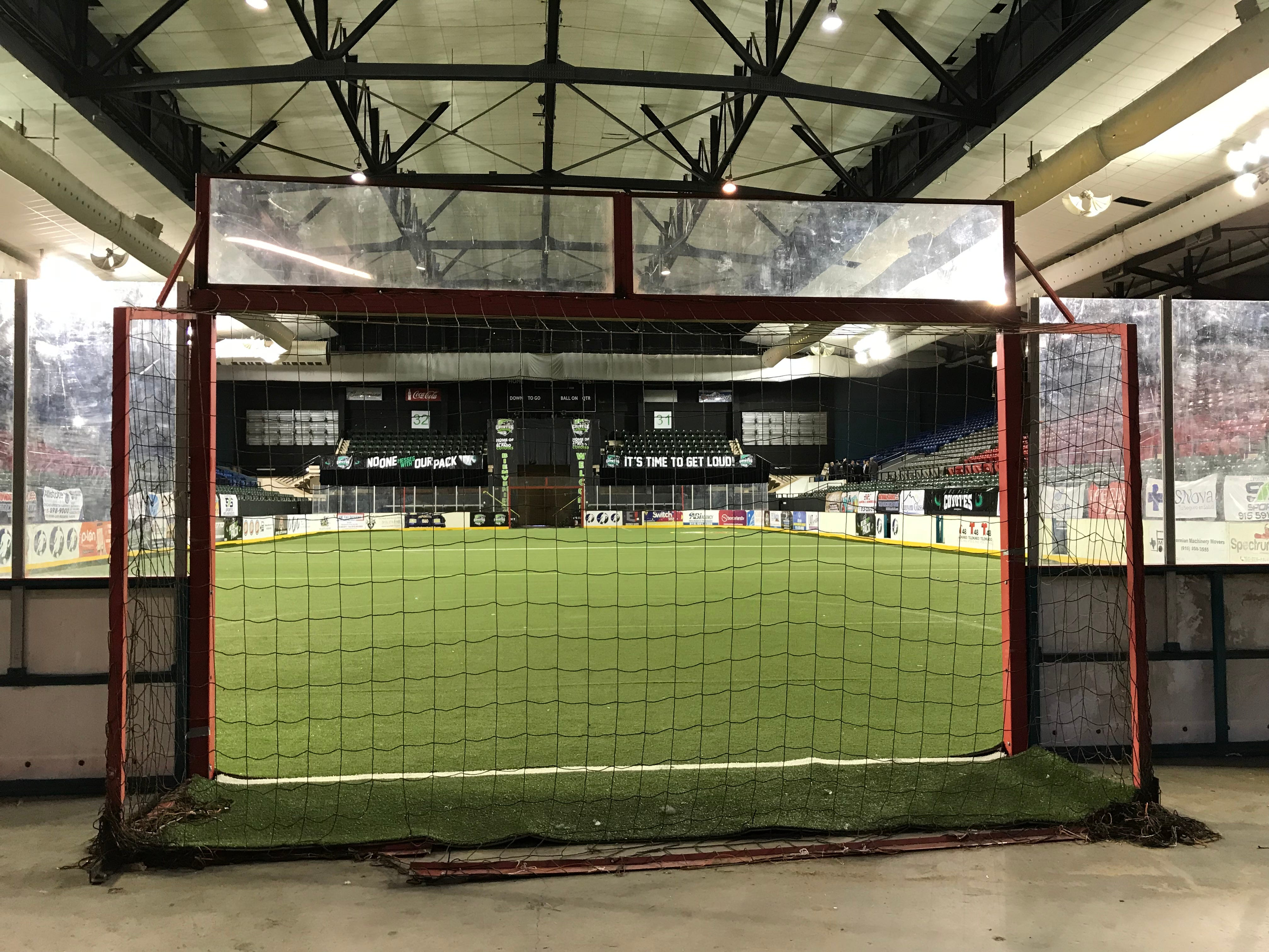 The El Paso County Coliseum on Wednesday, Feb. 6, 2019, was set up with turf on the floor for soccer.