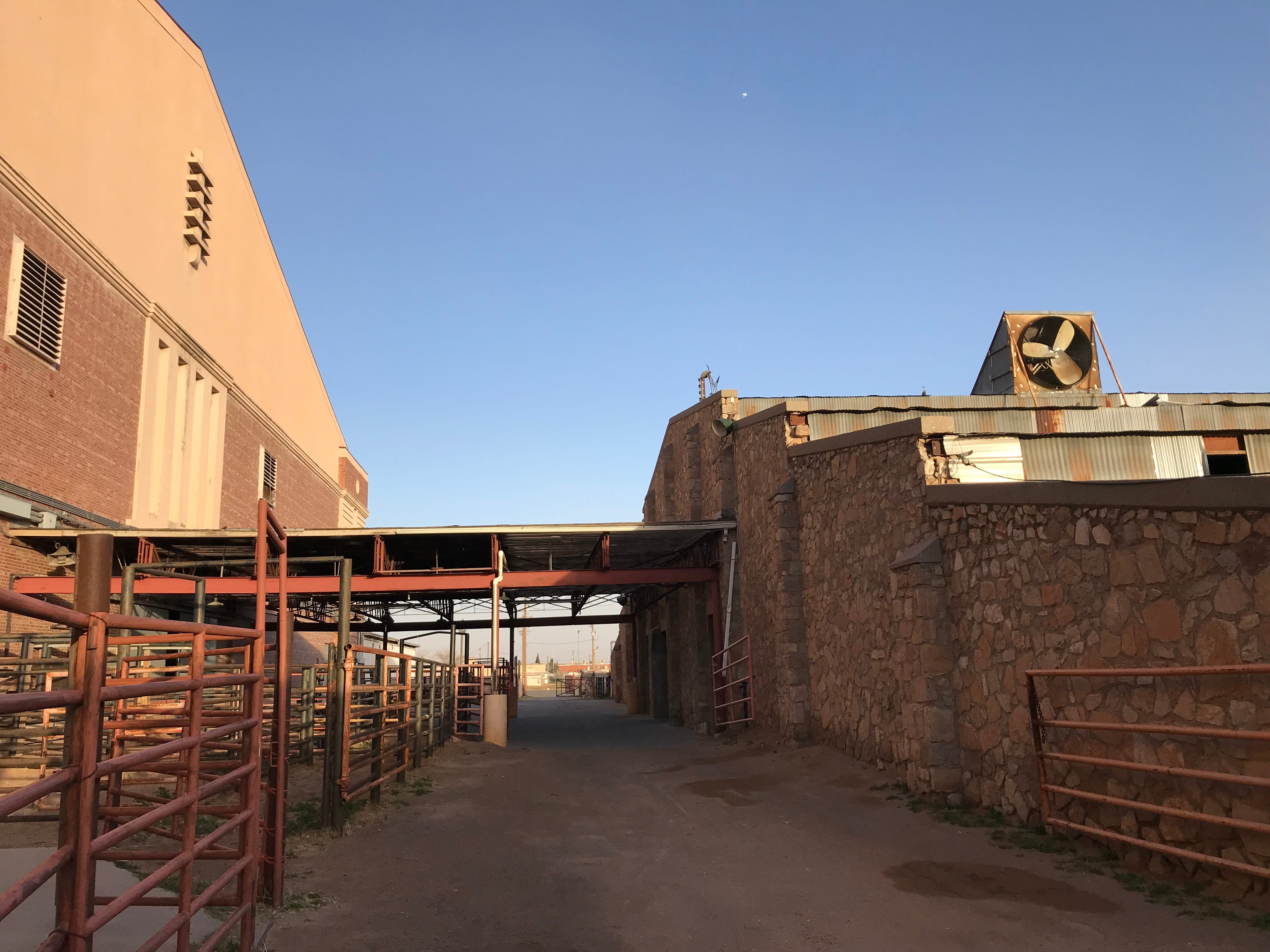 Rail pens for holding livestock show the El Paso County Coliseum's key role in the history of rodeos in the Borderland.